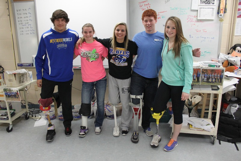 Westwood CSD - Prosthetic Limbs made by Anatomy & Physiology class